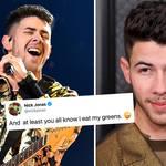 Nick Jonas had food in his teeth at this year's GRAMMYs