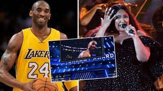 Stars pay tribute to Kobe Bryant at the GRAMMYs