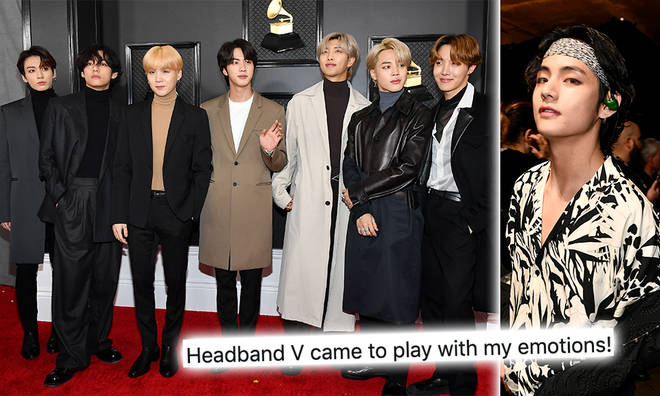 bts fans brand v heartthrob at grammy s 2020 after the k pop star was trending capital bts fans brand v heartthrob at grammy
