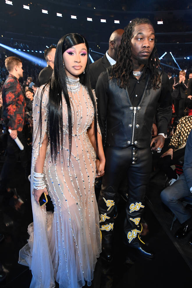 Cardi B and Offset at The Grammys 2020