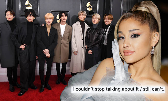 Ariana Grande couldn't stop screaming watching BTS rehearse
