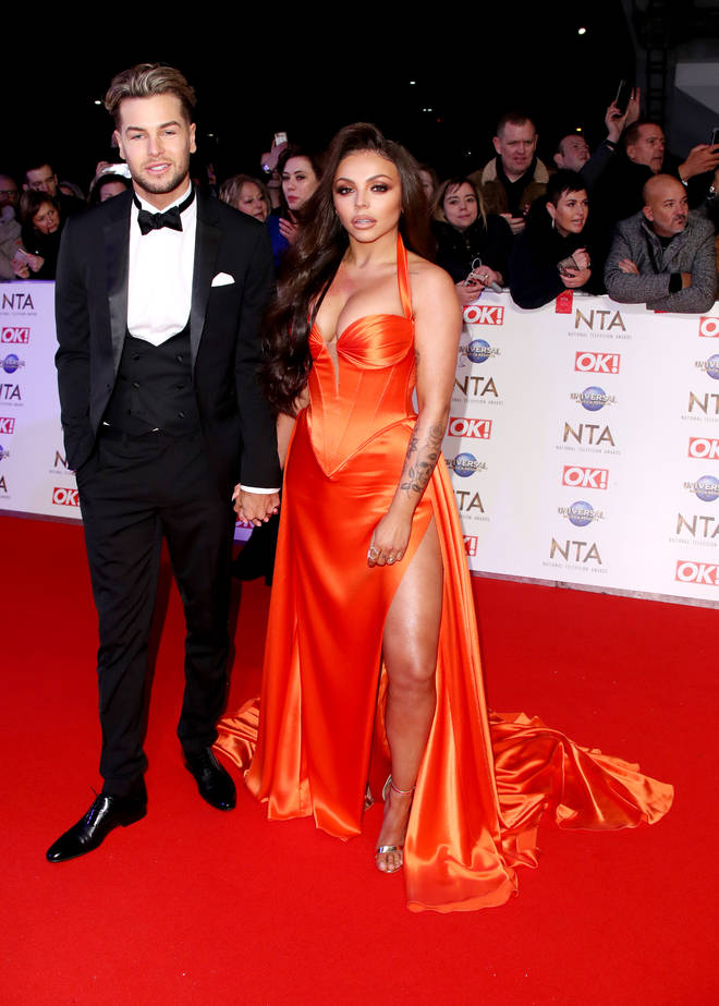 Jesy Nelson and Chris Hughes on the red carpet at the NTAs