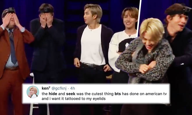 BTS playing hide and seek around a TV studio is the only thing you need to see