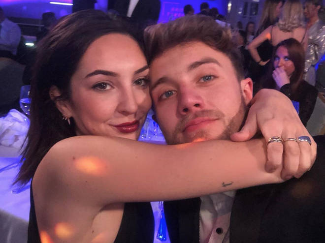 Anne-Sophie spent the evening with Roman at the NTAs