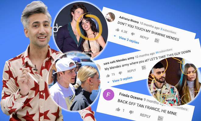 Tan France re-asserts his love for Shawn Mendes and rates Justin & Hailey Bieber