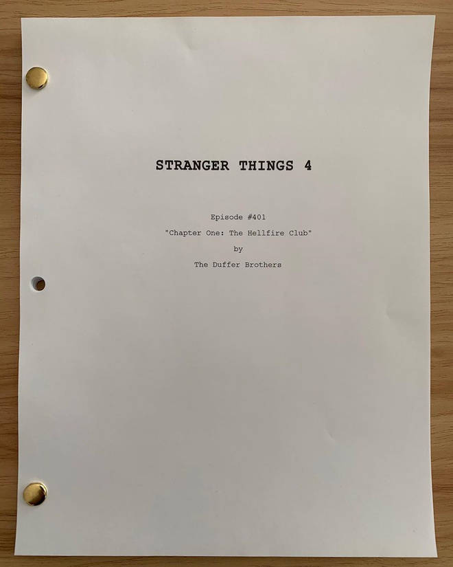 The Duffer Brothers shared a snap of the fourth season's screenplay of Stranger Things