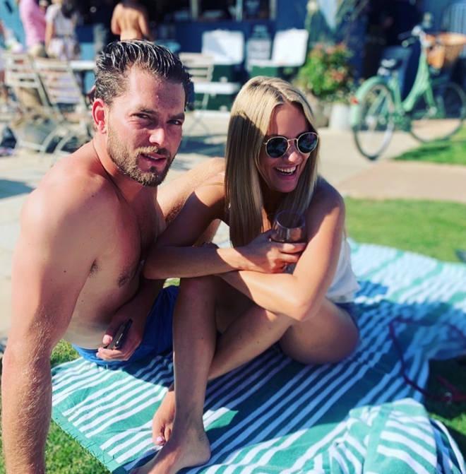 Caroline Flack and Lewis Burton went social media official in 2019