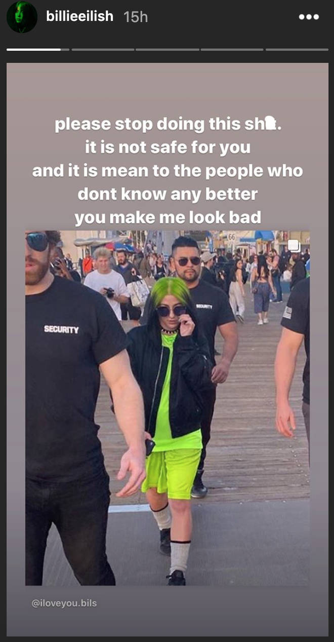 Billie Eilish begs people to stop impersonating her