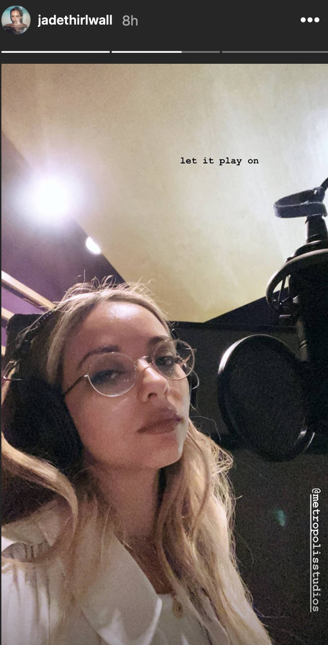 Jade teased fans with a studio snap