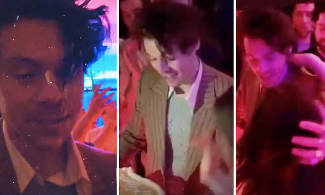 Harry Styles went to a star-studded bash around his own birthday