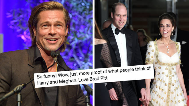 Brad Pitt referenced Prince Harry in his BAFTA speech