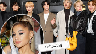 Ariana Grande followed by BTS producers as fans think they're finally getting collaboration