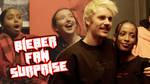 Justin Bieber surprised fans at album listening party