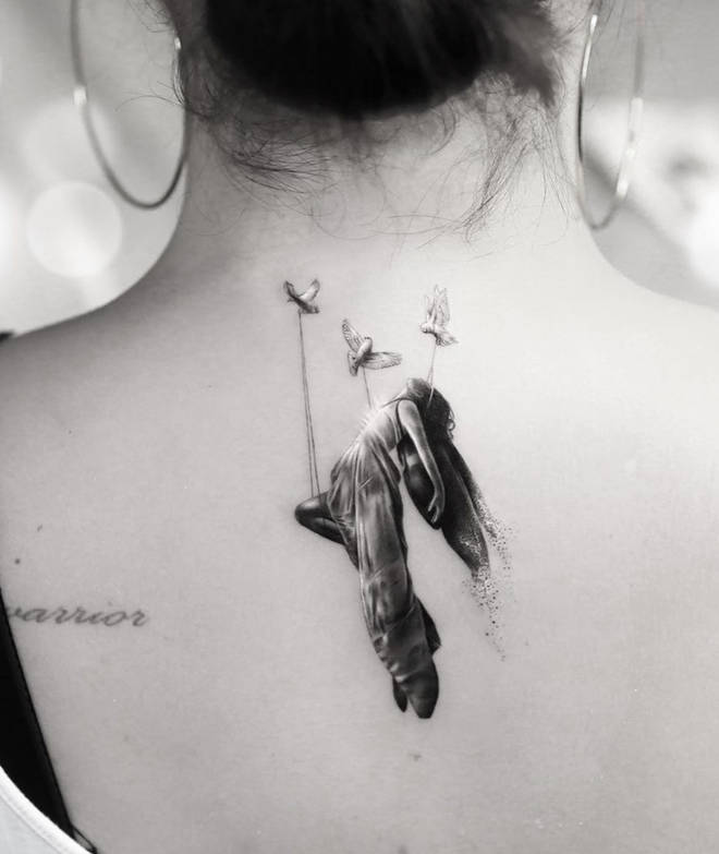 Demi's tattooist explained that the ink symbolised 'moving forward'