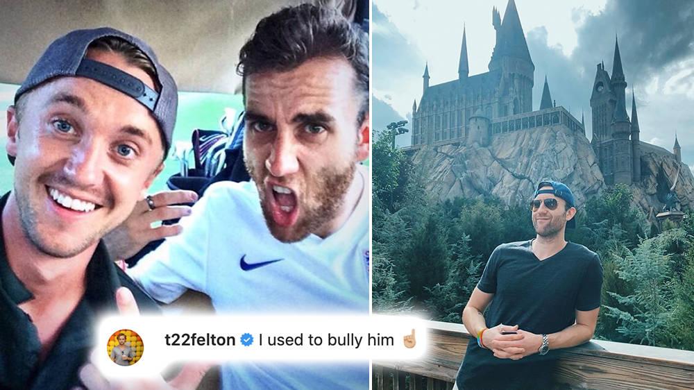 Harry Potter star Tom Felton trolls Matthew Lewis' Instagram photo