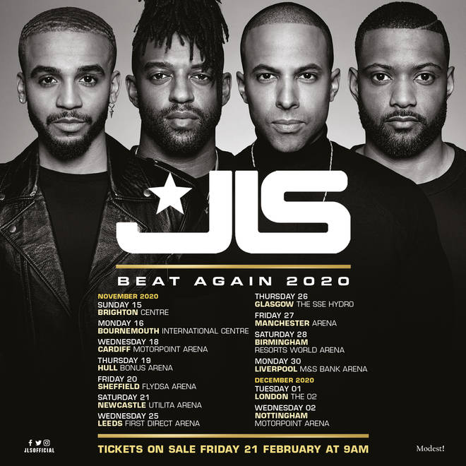 JLS' tour kicks off in November