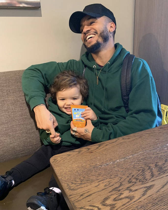Aston's son, Grayson Jax, has his own Instagram account