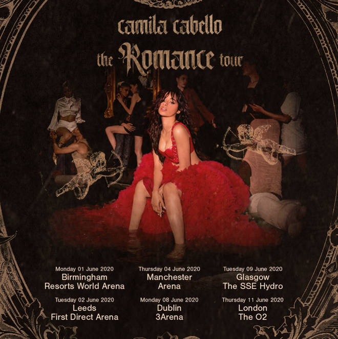 Camila Cabello is bringing her tour to six venues across the UK