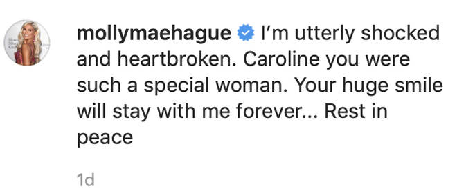 Caroline Flack passed away the day after Valentine's Day and Islanders shared their love for her