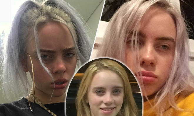 Billie Eilish shows off her natural hair colour from when she was younger