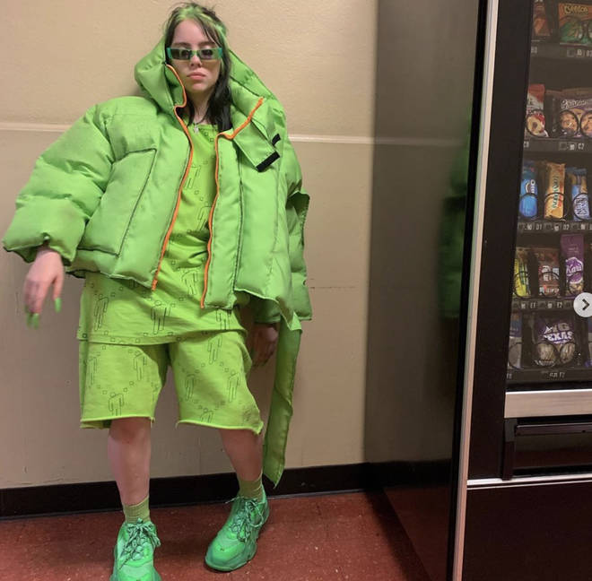 Billie Eilish is known for her slime green hair