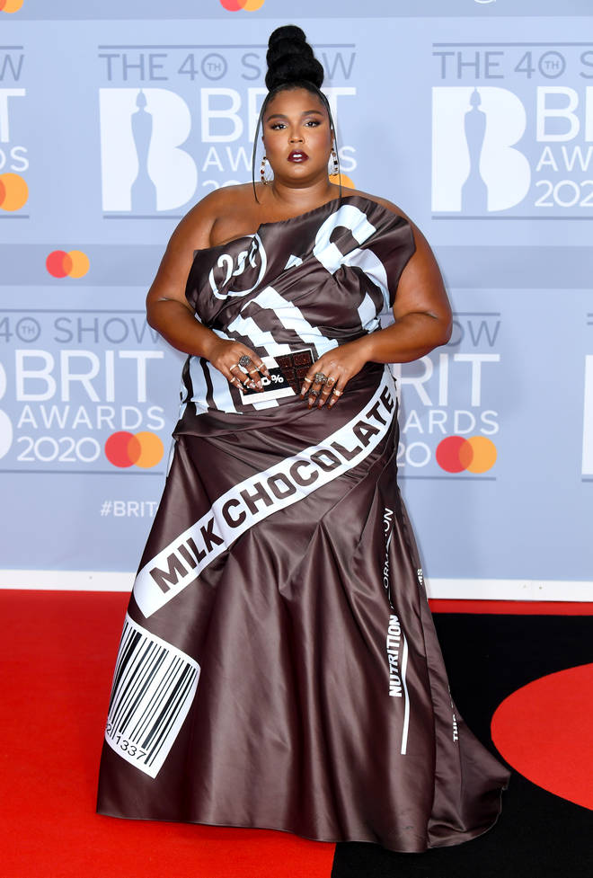 Lizzo's 'milk chocolate' dress has slayed the BRITs