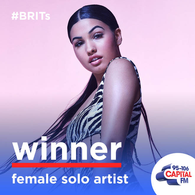 Mabel won Female Solo Artist at The BRITs