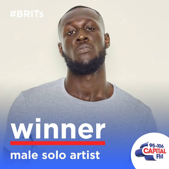 Stormzy won Male Solo Artist at the BRITs 2020