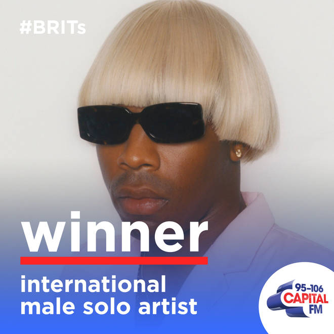Tyler, the Creator won International Male at The BRITs