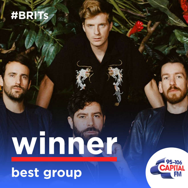 Best Group at the BRIT Awards 2020 went to Foals