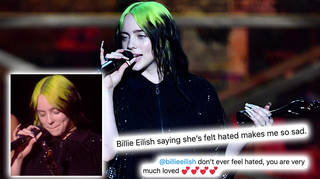 Billie Eilish's fans sent positive messages to the singer after her tearful BRITs speech
