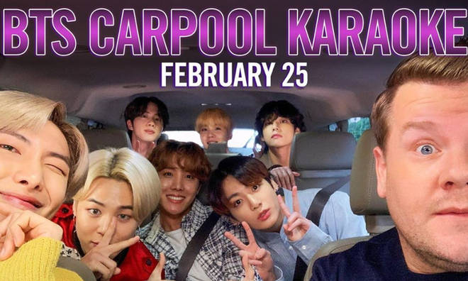 BTS are taking on Carpool Karaoke with James Corden