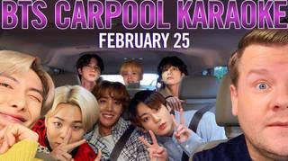 BTS are taking on Carpool Karaoke with James Corden
