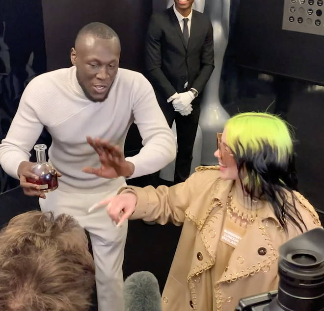 Billie Eilish and Stormzy meet at the BRITs