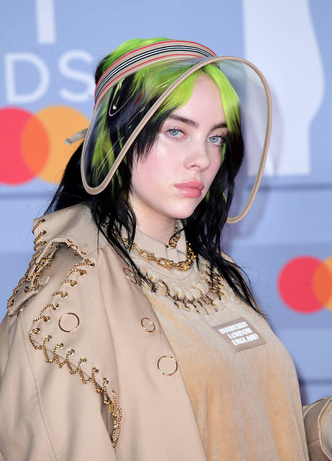 Billie Eilish rocked her slime green look on the red carpet