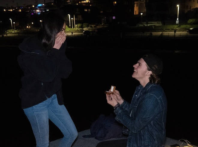 Joey Courtney and Mia Scholink got engaged on Valentine's Day