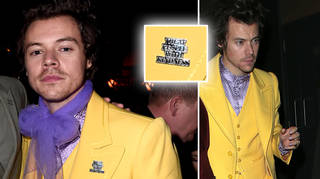 Harry Styles wore a 'treat people with kindness badge'