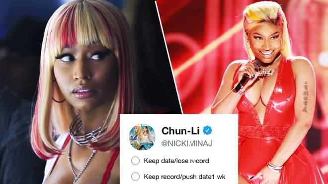 Nicki Minaj Asks Fans To Vote On Album Release