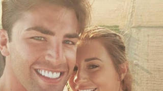Jack Fincham and Dani Dyer on a hot air balloon date in the villa