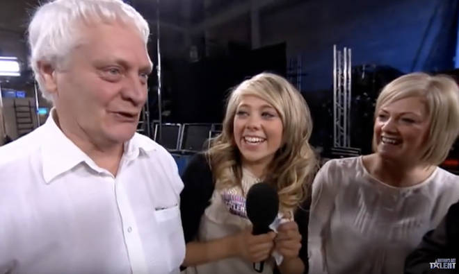 Paige Turley's family came to support her at her Britain's Got Talent audition in 2012