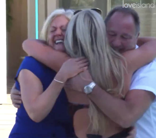 Paige Turley's parents visit the Love Island villa for the first time