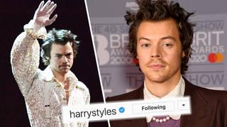 Harry Styles follows pop stars on Instagram