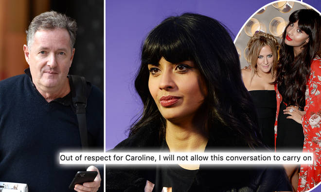 Jameela Jamil ended her row with Piers Morgan out of respect for Caroline Flack