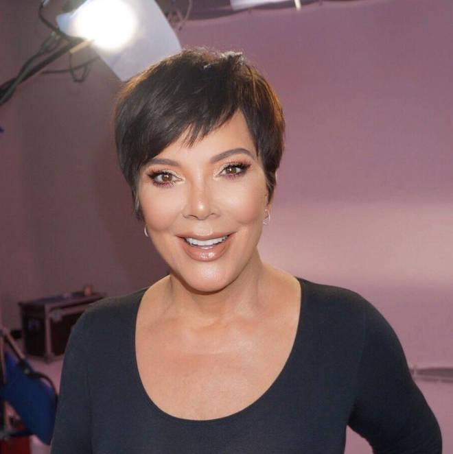 Kris Jenner smiles on set of KUWTK