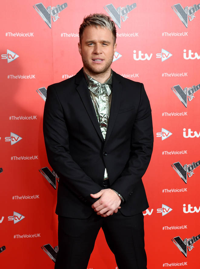 Olly Murs at The Voice series premiere in 2019