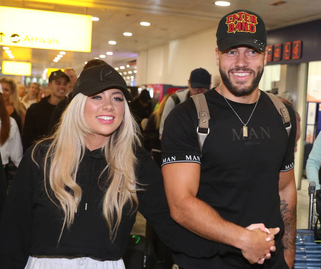 Paige Turley and Finn Tapp have flown back from South Africa
