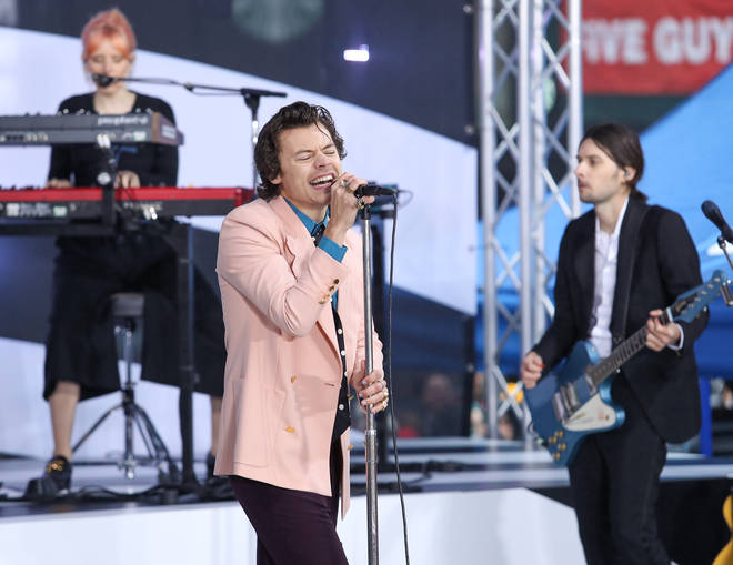 Harry Styles performed on the Today show in New York