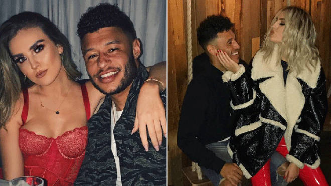 Perrie Edwards and boyfriend Alex Oxlade Chamberlain together