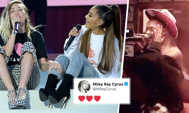 Ariana Grande's karaoke gets seal of approval from Miley Cyrus