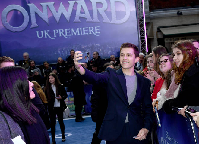Tom Holland stars in Onward alongside Chris Pratt